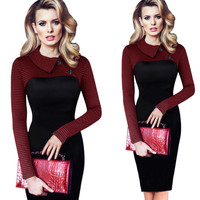 C66701A Europe design new style winter dress for ladies
