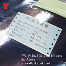 Cantonese Kapok Flexible Transparent PVC Film Eco-friendly Clear PVC Film for Packing with Good Quality