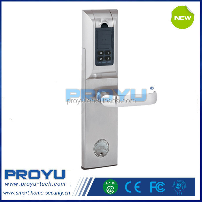 High quality 4 ways unlocking Fingerprint Door Lock system with fingerprint card password and mechanical key ADEL 4920