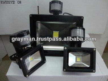 out door PIR Sensor 100w flood light. 80w flood light.motion led flood light 20w