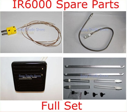 IR6000 bga rework station Spare Parts Omega Thermocouple + Thermocouple Wire Holder + 450W Heat Plate + BGA Fixture