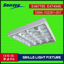 Commercial 4X18W T8 fluorescent light fitting 595x595x80mm 2x2ft light fitting