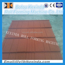 Color Stone sand blasting coated steel color-coated steel tile roll forming machine