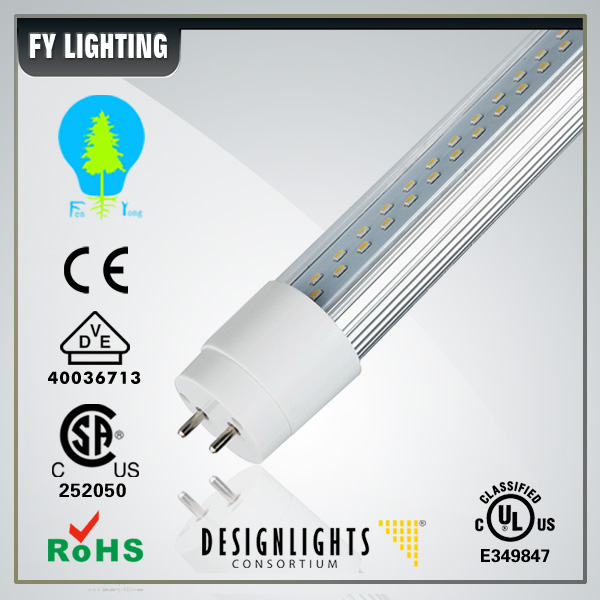 UL CSA listed led tube t8 and 347v tube led light with locked end cap