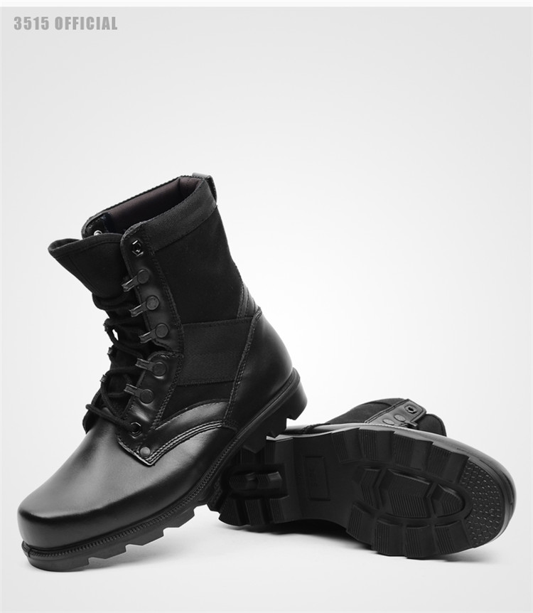 Genuine leather double density military army boots