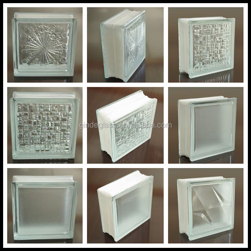 High quality factory price wholesales 3d laser engraving for Hollow glass blocks for crafts