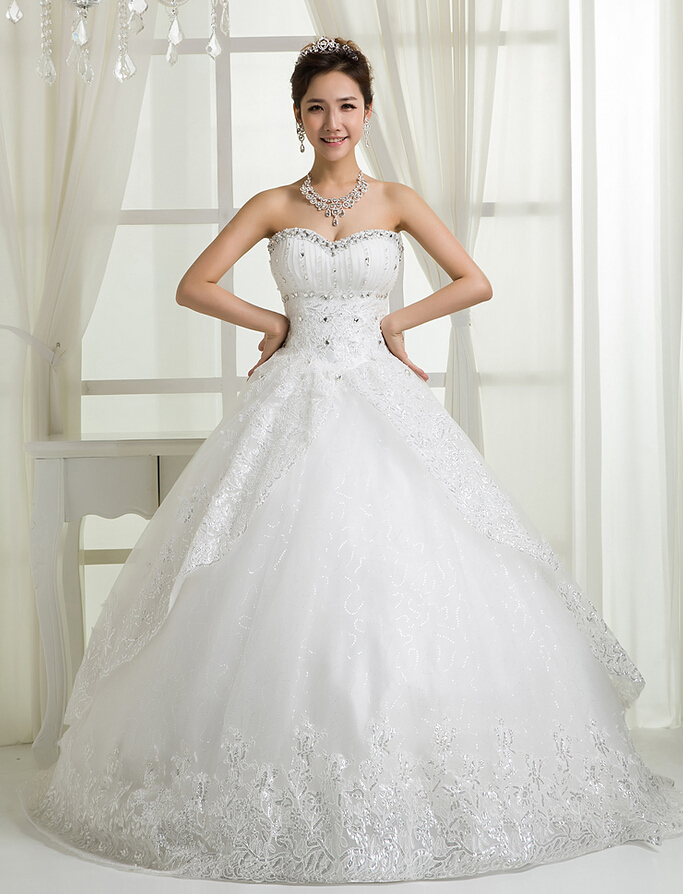 RR2689 real pictures made in china suzhou supplier customized puffy skirt sweetheart neckline beaded ball wedding dresses