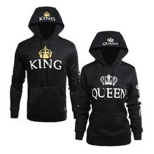Waslon KING & QUEEN Matching Couple Hoodie Set Valentine's Day Gift Hoodies