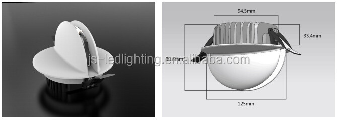 factory price recessed ceiling light for South America market