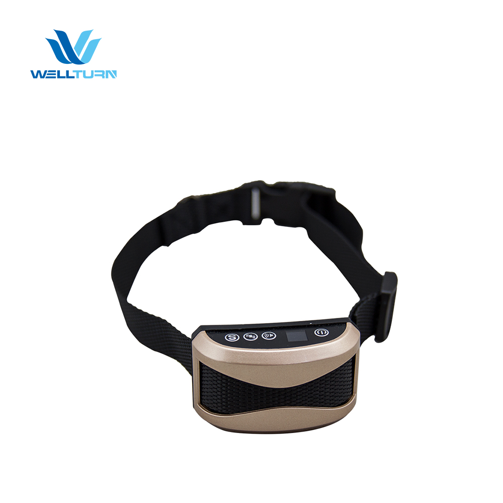 Wellturn Smart Automatic Control Vibrate Stop Barking Rechargeable Ultrasonic No Shock Anti Bark Collar