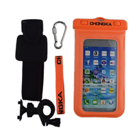 pvc universal waterproof case with strap for cell phone
