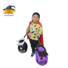 Wholesale Halloween skull hand candy bag for children