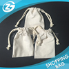 Customized Size Promotional Mini Blank Canvas Cotton Drawstring Rope Bag