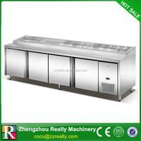 Stainless Steel 4 Door Commercial Undercounter Refrigerator/Freezer