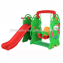 8007C Bear plastic swing and slide combination