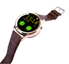 Latest Round Touch screen leather wrist watch phone for apple watches