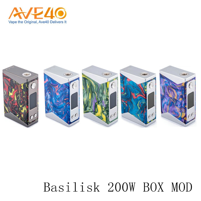 Express Ali New Product Vape Mods Unique Resin Body Wotofo Stentorian Basilisk 200W VW Box Mod Powered By 18650 Battery