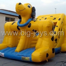 Dog type inflatable slide for kids giant commercial air slide for sale