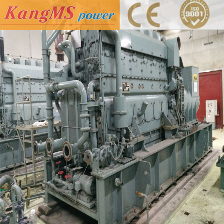 Japan Mitsubishi 1000kw heavy oil used diesel generator set only used for 100 hours