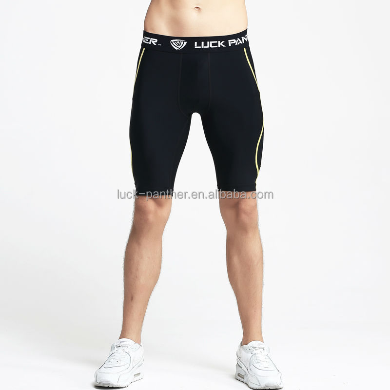 quality custom compression mens black compression running pants