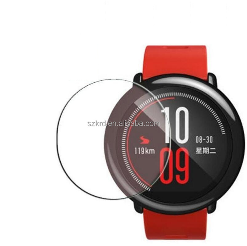 Premium 9H Tempered Glass Screen Protector Skin Film Guard for Xiaomi Huami Amazfit Sports Watch With Retail Pack
