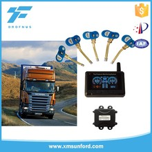 Vehicle-mounted tyre turck LCD tpms system digital monitor for indicator tire pressure