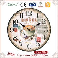 Paris feeling eiffel towers and coffee design stock wall clock