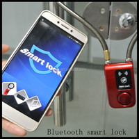 2016 Smart bluetooth bike/door lock with alarm, anti theft alarm lock with password,remote motorcycle alarm lock