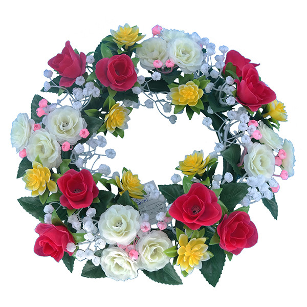 real touch artificial flower silk rose funeral wreath for grave