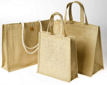 Jute Material and Handled Style Promotional Jute Burlap Tote Gift Bag