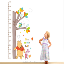 removable kids height growth chart wall sticker/height chart wall sticker