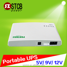 Portable mini ups power supply 12v for router,modem,camera