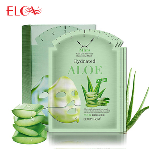 Korean Fashion Whitening Skin Care Sheet Facial Mask Wholesale Hot Sale Natural 24hrs Aloe Vera Gel Extract Repair Face Mask