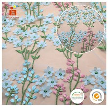 New design 2017 New fashion design multi-color lace floral laser embroidery fabric walmart lace fabric