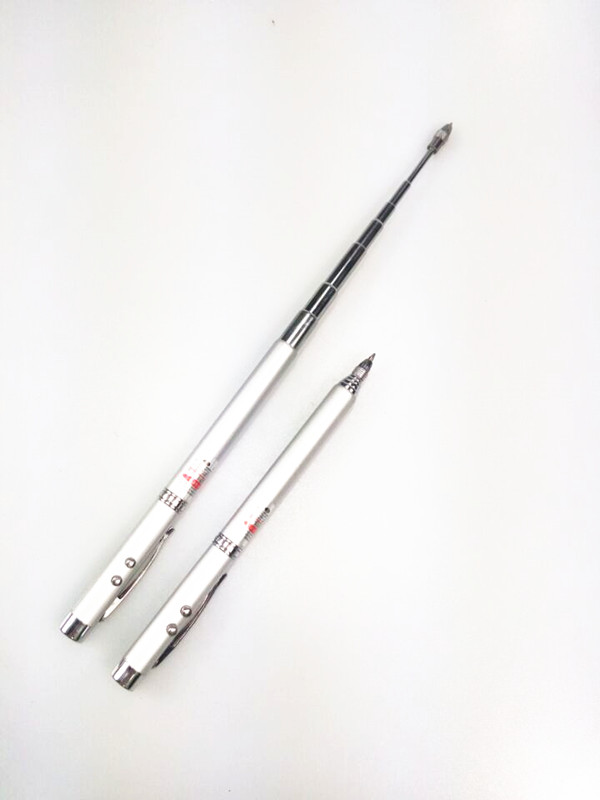 4in1 Ball Pen Laser Pointer Telescopic Point Teacher Led Light Torch