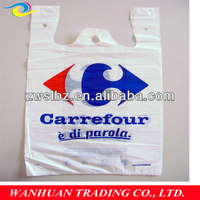 HDPE plastic garbage vest style carrier bags