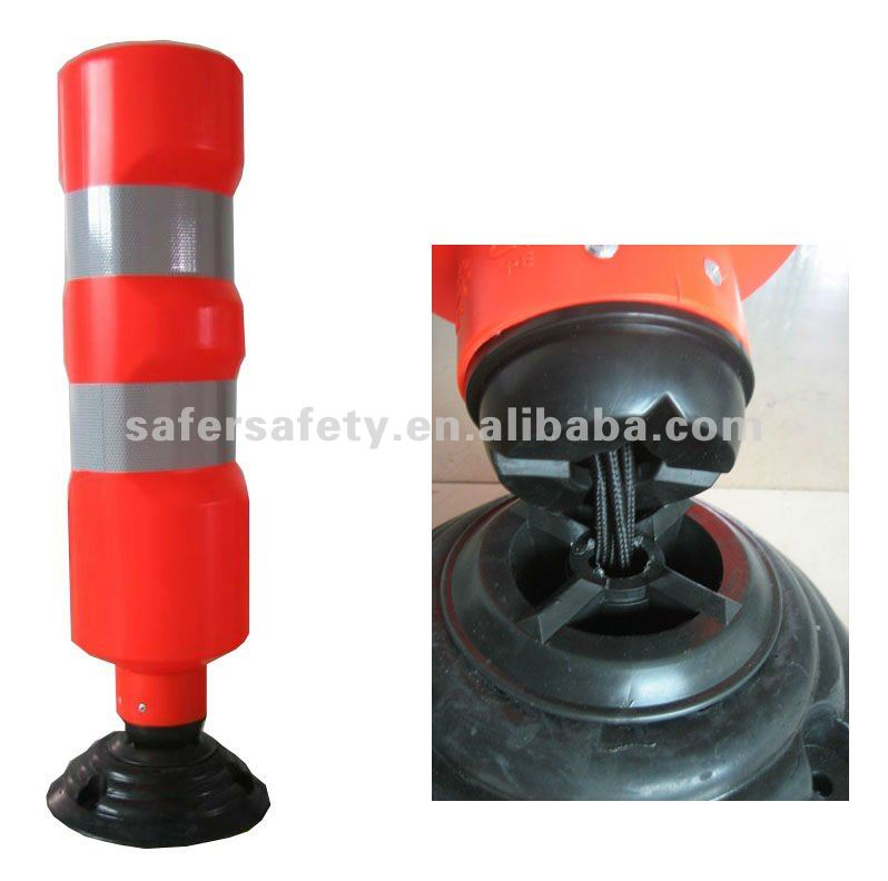 S-1407 spring back road warning bollard