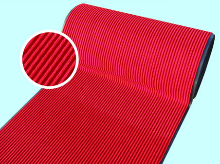 Double Stripe Surface Pvc Backed Indoor And Outdoor Use Flooring Mat In Roll