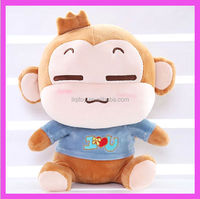 2014 new products cute pink plush monkey with t-shirt