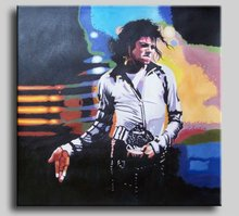 2012 Hot Selling Mike Jackson Portrait Oil Painting