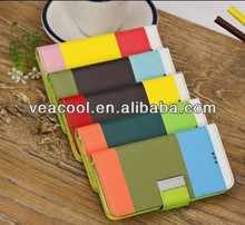 Book 3 Colors Wallet PU Leather case For Apple Iphone 5C