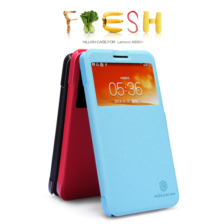For Lenovo A850+ Fresh Series Leather Case