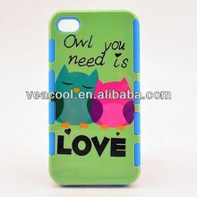 New Design PC Silicone Hard Case for Apple iPhone 4S 4G 4 Case