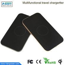 Qi compatible wireless charger Metal shell ultra thin slim qi wireless charger for htc notebook blackberry