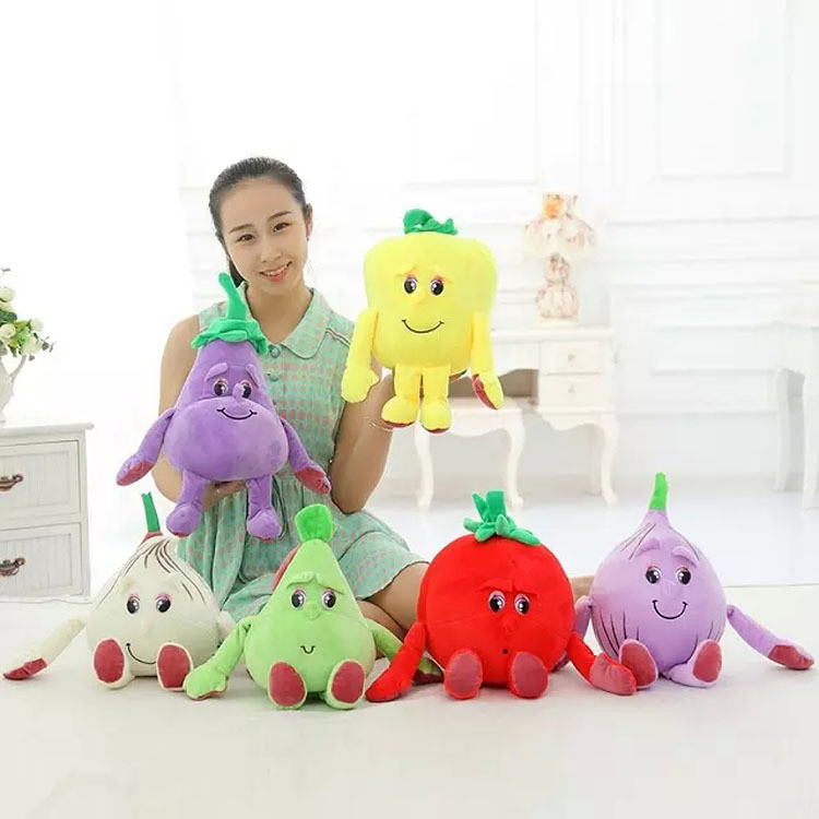 Custom small lovely colorful vegetable plush toy for children