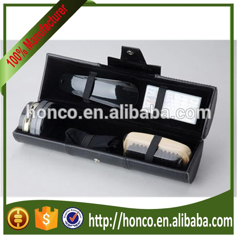 Hot selling travel shoe shine kits with low price HY-167