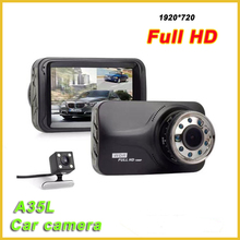 2017 hot sale top 10 car full hd 1080p vehicle blackbox dvr A35L dual dash camera