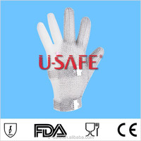 Stainless steel chain mail gloves for meat processing gloves for handicap