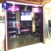 Cosmetic kiosk design cosmetic booth display rack with mirror for sale