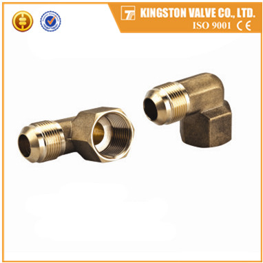 K508 Copper flare fitting elbow male and female NPT threads